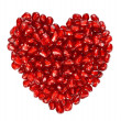 Heart from pomegranate seeds — Stock Photo