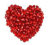 Corazón de semillas de granada — Foto de Stock