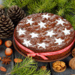 Christmas fruit cake — 图库照片