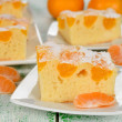 Stock Photo: Cake with mandarin oranges