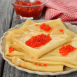 Pancakes with red caviar — Stock Photo #37728881