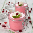 Stock Photo: Cranberry mousse
