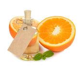 Orange essential oil — Stock Photo