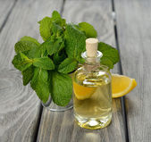 Peppermint essential oil — Stockfoto