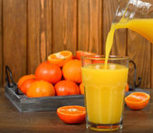 Tangerine juice — Stock Photo