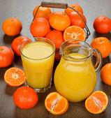 мандариновый сок — Стоковое фото