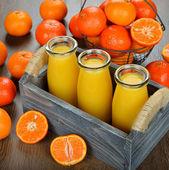 Zumo de mandarina — Foto de Stock