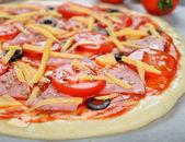Crude pizza — Stock Photo