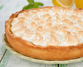 Pie with meringue — Stock Photo