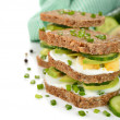 Dietetic sandwich — Stock Photo #40444001