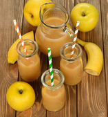 Smoothie of banana and apple — Stok fotoğraf