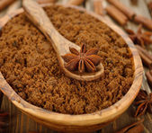 Brown sugar and anise — Stock Photo
