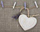 Cuore in legno — Foto Stock