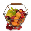 Various fruit in a basket — Stock Photo #48087723