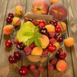 Various fruit in a basket — Stock Photo #48087731