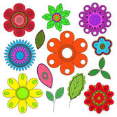 Multicolored flowers — Stock Vector