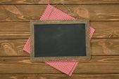 Writing board and napkin — Stock Photo