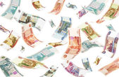 Falling Roubles (isolated) — Stock Photo