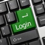 Conceptual keyboard - Login (green key) — Stock Photo #18015605