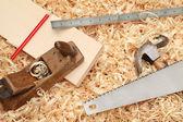 Vintage carpenter — Stock Photo