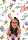 Successful investment (roubles banknotes) — Stock Photo