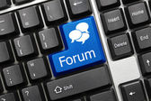 Conceptual keyboard - Forum (blue key) — Stock Photo