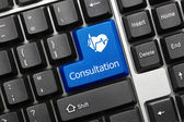 Conceptual keyboard - Consultation (blue key with heart symbol) — Stock Photo