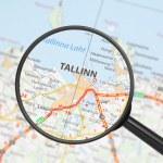 Destination - Tallinn (with magnifying glass) — Stock Photo #18443569