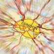 Destination - London (zoom effect) — Stock Photo