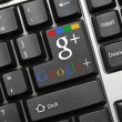 Stock Photo: Conceptual keyboard - Google+ (with logotype)