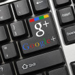 Conceptual keyboard - Google+ (with logotype) — Stock Photo