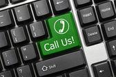 Conceptual keyboard - Call Us (green key) — Stock Photo