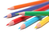 Some colored pencils (isolated) — Stock Photo