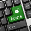 Royalty-Free Stock Photo: Conceptual keyboard - Access (green key)