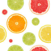 Seamless citrus background — Stock Photo