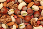 Nuts. Background — 图库照片