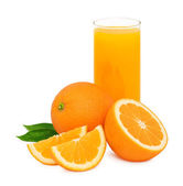 Orange juice (isolated) — Stock Photo
