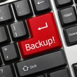 Conceptual keyboard - Backup (red key) — Stock Photo