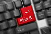Conceptual keyboard - Plan B (red key). Zoom effect — Stock Photo