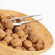 Walnut in small basket — Stock Photo