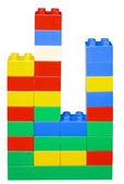 Histogramme des blocs en plastique — Photo