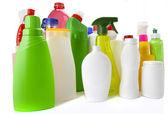 Plastic bottle on white — Stock Photo