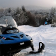 Snowmobile on beautiful winter mountain landscape — стоковое фото #41742105