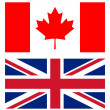 Stock Photo: Union jack and canadian flag