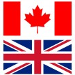 Union jack and canadian flag — Stock Photo