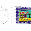 Italian post stamp to celebration day of philately — Stock Photo