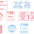 Bunch of european postmarks — Stock Photo