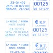 Three french postmark 23-2009 — Stock Photo