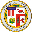Los Angeles coat of arms — Stock Photo