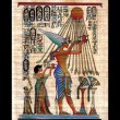 Egyptian papyrus on black background — Stock Photo